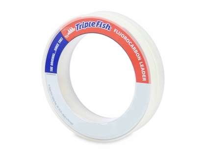 Triple Fish Fluorocarbon Leader 50yds Clear
