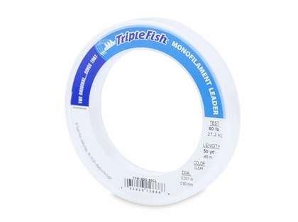 Triple Fish Monofilament Leader 50yds Clear 60lb Test