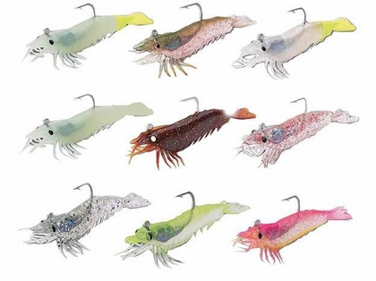 Tsunami HS3 Holographic Shrimp Lure 46-Clear/Silver Glitter