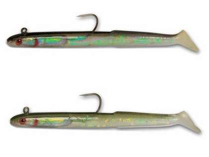 Tsunami HWE8-2 Holographic Sand Eel Lures - 8 in. - 2 Pack