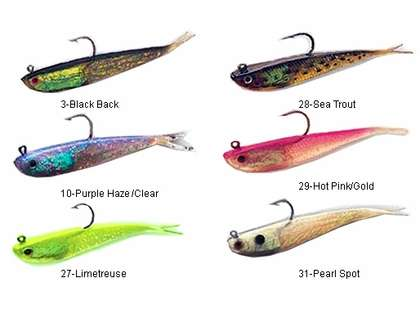Tsunami STM4 Soft Bait Split Tail Minnow Lure