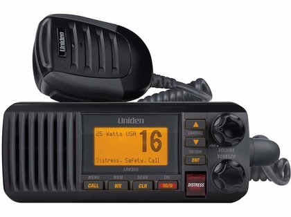 Uniden UM385BK Fixed Mount VHF Radio - Black