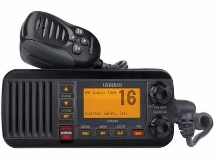 Uniden UM435BK Fixed Mount VHF Radio - Black
