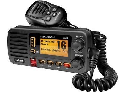 Uniden UM415-BK DSC 25-Watt Full-Featured VHF Marine Radio - Black