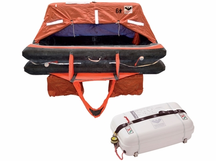 VIKING  Coastal Life Raft - 4 Person - Low Profile Container