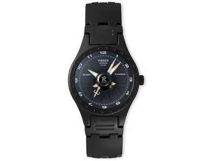 Visser Black Diamond Watch