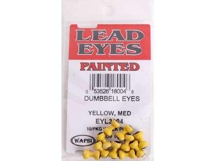Wapsi Lead Eyes Painted Dumbbell Eyes - Yellow