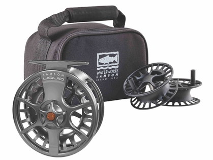 Waterworks Lamson Liquid -9+ Fly Fishing Reel and Spool - 3pk