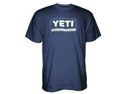 YETI Billboard Logo Short Sleeve T-Shirt - Navy - Medium