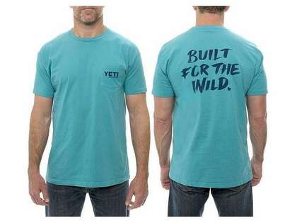 YETI YTSBFWT 'Built f/ the Wild' S/S Pocket T-Shirt - Teal - Medium