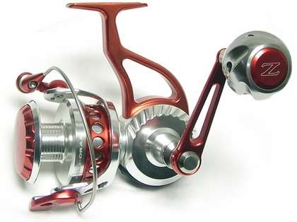 ZeeBaaS ZX22RBR Red/Silver Spinning Reel - Full Bail 2.25'' Spool