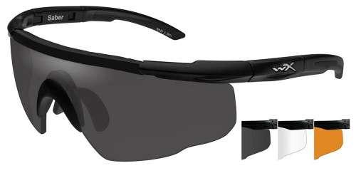 Wiley X Saber Advanced  Three-Lens Grey//Clear//Rust Protective Eyewear Item 308