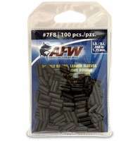 American Fishing Wire J07F8B-B #7F8 Double Barrel Sleeves Black 100pc