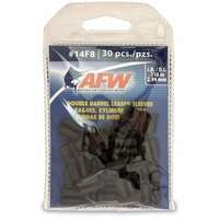 American Fishing Wire J14F8B-B #14F8 Double Barrel Sleeves Black 30pc