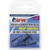 AFW FTSS170B/50 170Lb. 50pk Stainless Steel Snap Swivels Black