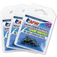 AFW FWSS12B/50 100Lb. 50pk Stainless Steel Crane Swivels Black