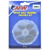 AFW TKB00006 Brass Ball Bearing Swivels Kit, 57 Pieces