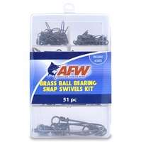 AFW TKB00007 Brass Ball Bearing Snap Swivels Kit, 51 Pieces
