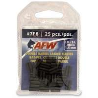 American Fishing Wire J07F8B-A #7F8 Double Barrel Sleeves Black 25pc