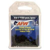 American Fishing Wire J02B-B #2 Single Barrel Sleeves Black 100pc
