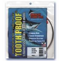 American Fishing Wire S10C-.25 10 Toothproof Leader Wire Brown