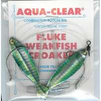 Aqua-Clear FW-2AHG Flounder/Weakfish Holographic High/Low Rig