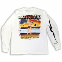 Bart Girl Rod Weaponry Long Sleeve T-Shirts White XX-Large