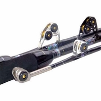Black Bart WT80 Black/Gold Blue Water Pro 80lb Standup Stroker Rods