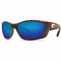 Costa Fisch Sunglasses - Tortoise/Blue Mirror 580P