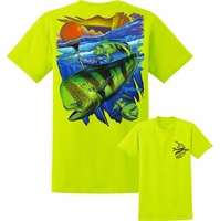David Dunleavy DDM8041 Mahi Pot Life SS T-Shirt - Safety Green