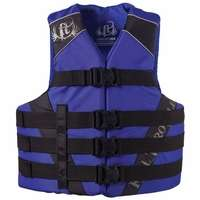 Full Throttle 1122 Adult Dual-Sized Nylon Water Sports Vest - Blue