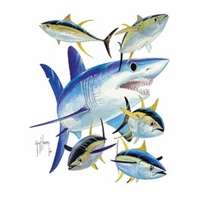 Aftco MTH120103L GH Mako Shark White L