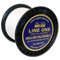 Jerry Brown Line One Hollow Core Spectra Braided Line 150yds 300lb