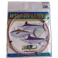 Momoi 90014 Extra Hard Wind On Leader 400lb 2.05mm Clear White
