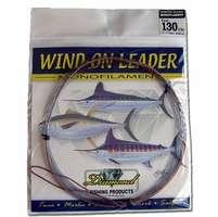 Momoi 90002 Mono Wind On Leaders 100lb .95mm 25' Smoke Blue