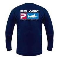 Pelagic 101-LS Deluxe P Logo Long Sleeve Shirt Navy