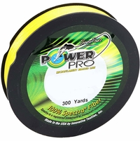 Power Pro 30lb 300yds Braided Spectra Fishing Line Hi-Vis Yellow
