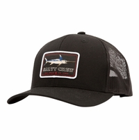 Salty Crew Flat Bill Retro Trucker Hat - Black