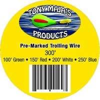 Tony Maja PMSSW 50-300 Pre-Marked 50# Stainless Steel Trolling Wire