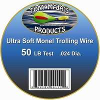 Tony Maja Ultra Soft Monel Trolling Wire 50lb 300ft Spool